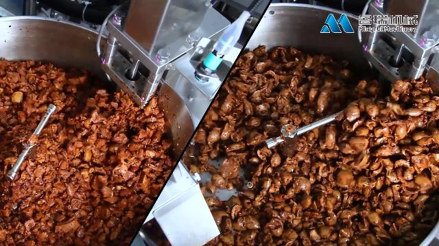 碎鸡块、鸡胗全自动给袋式真空包装机,MRZK-130B名瑞包装机械产品视频